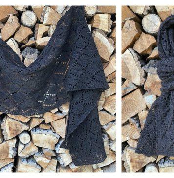 Leaf Lace Shawl Free Knitting Pattern