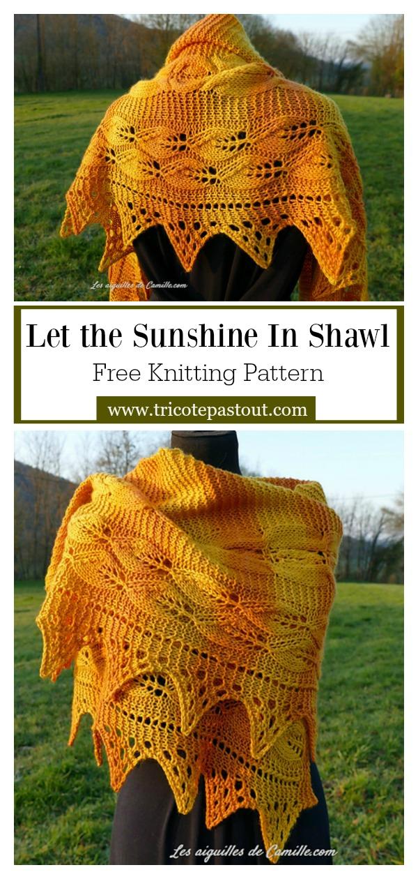 Let the Sunshine In Shawl Free Knitting Pattern
