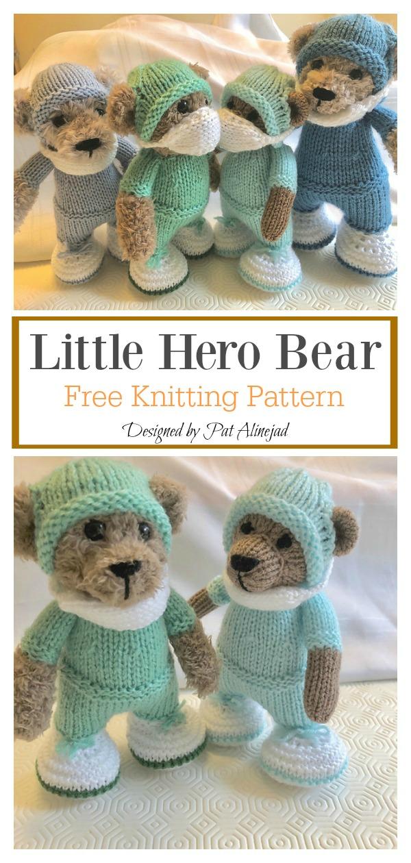 Little Hero Bear Free Knitting Pattern