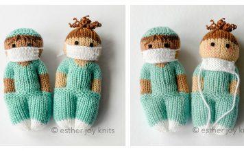 Nurse Doll Free Knitting Pattern