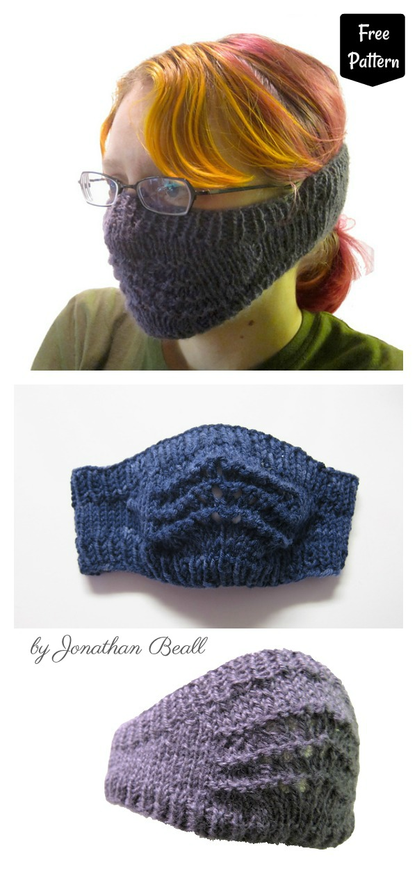 Old Shale Face Warmer Free Knitting Pattern