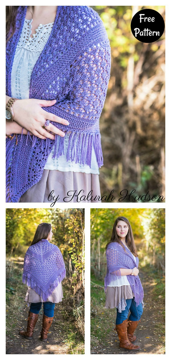 Sea Holly Lace Shawl Free Knitting Pattern