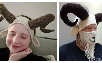 Silly Billy Goat Ear Warmers Free Knitting Pattern