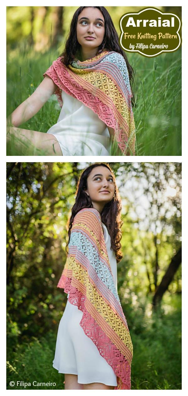 Sweet Arraial Lace Shawl Free Knitting Pattern
