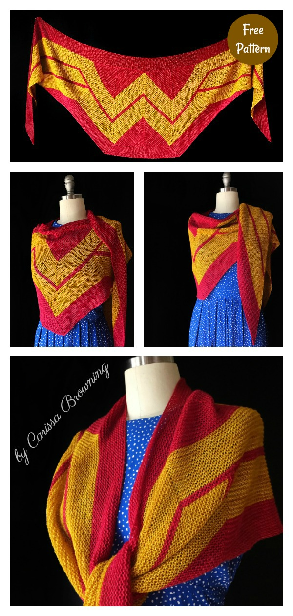 Wonder Woman Wrap Free Knitting Pattern