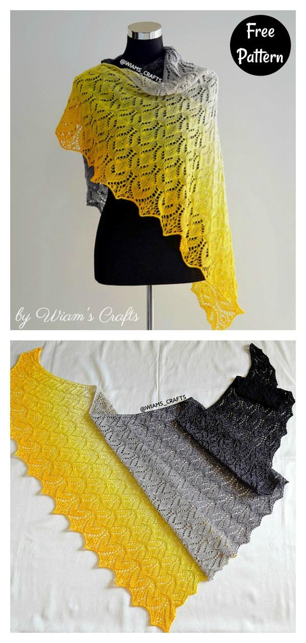 Wrap Me in Sunshine Shawl Free Knitting Pattern