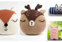 Adorable Animal Pet Pillow Free Knitting Pattern