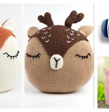 Adorable Animal Pet Pillow Free Knitting Pattern