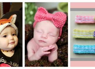 Adorable Baby Headband Free Knitting Pattern