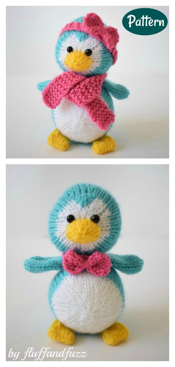 Amigurumi Baby Penguin Soft Toy Knitting Pattern