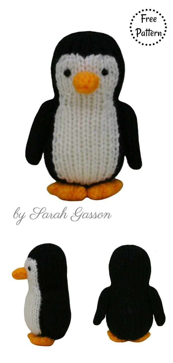 Amigurumi Penguin Soft Toy Free Knitting Pattern