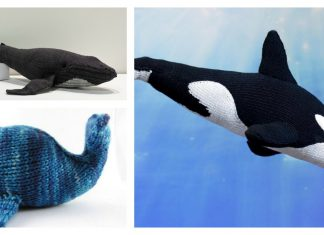 Amigurumi Whale Free Knitting Pattern and Paid