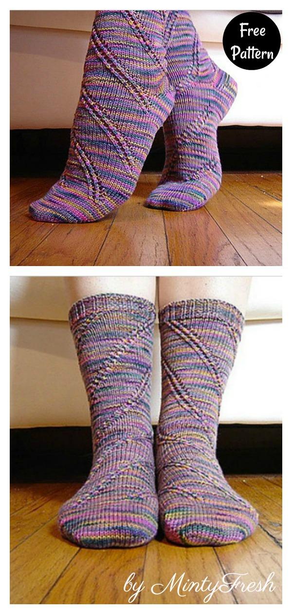 Anastasia Spiral Socks Free Knitting Pattern