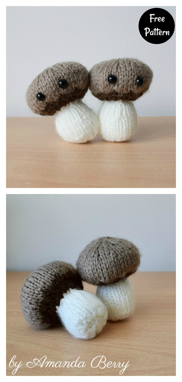 Chestnut Mushrooms Free Knitting Pattern