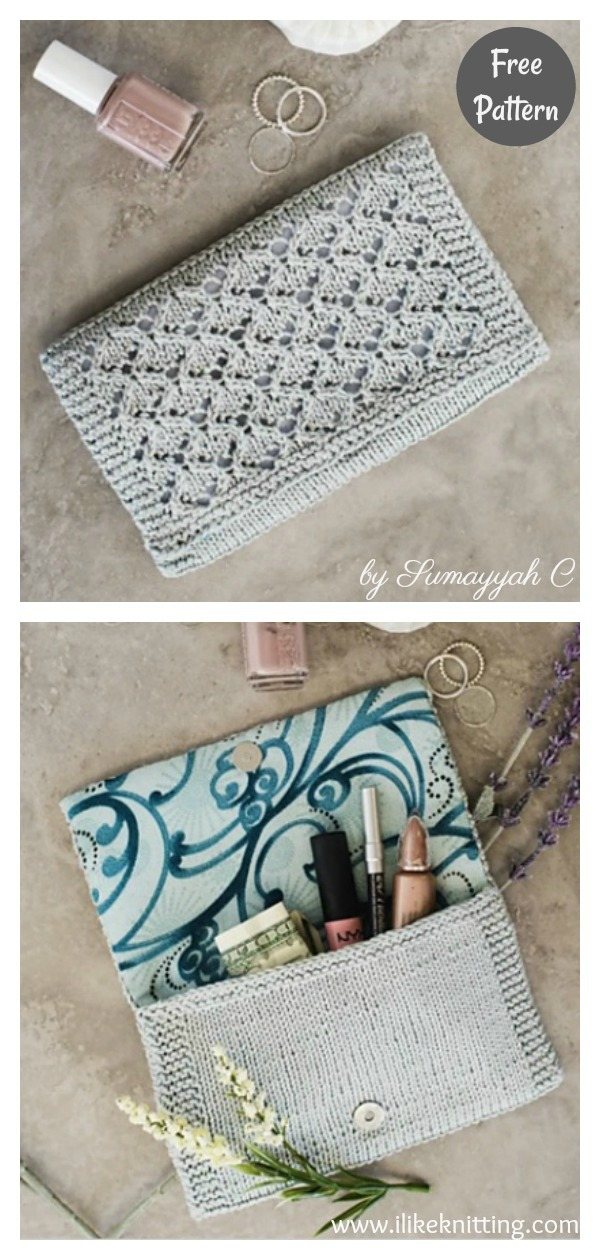 Eucalyptus Lace Clutch Free Knitting Pattern