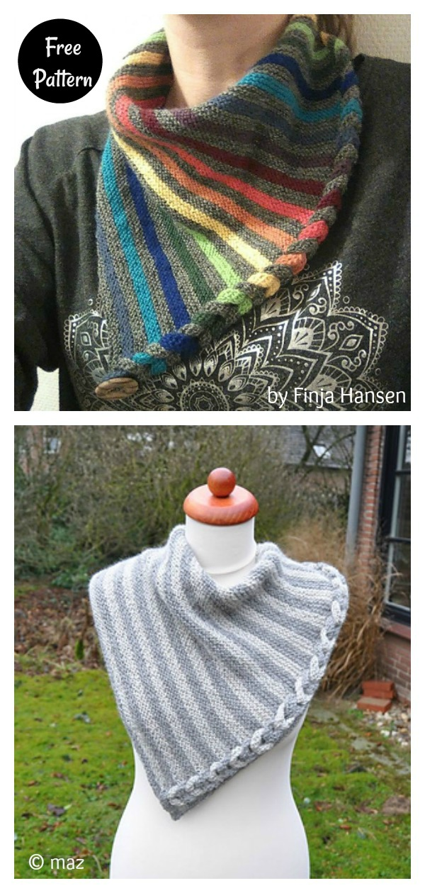 Faux Braid Neck Warmer Free Knitting Pattern