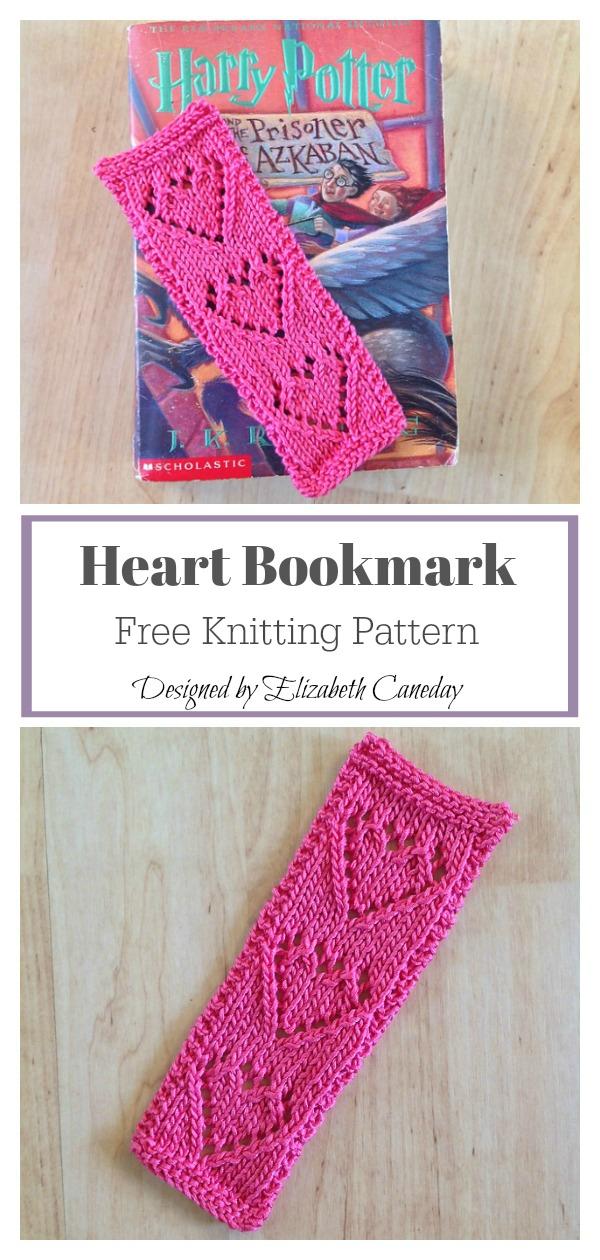 Heart Bookmark Free Knitting Pattern