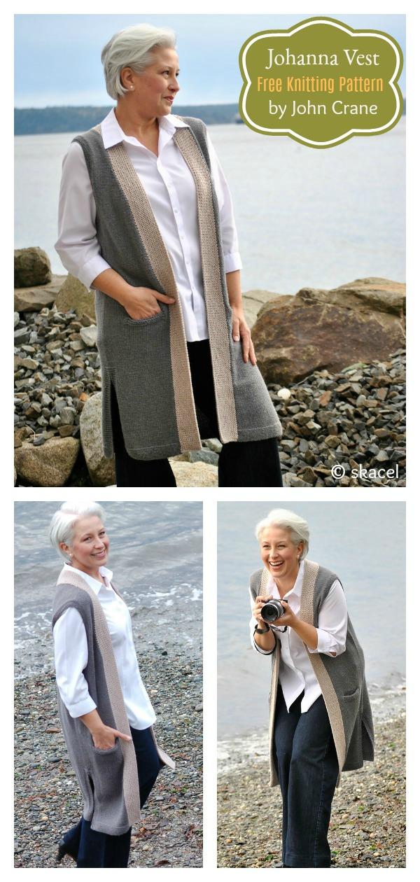 Johanna Vest Free Knitting Pattern