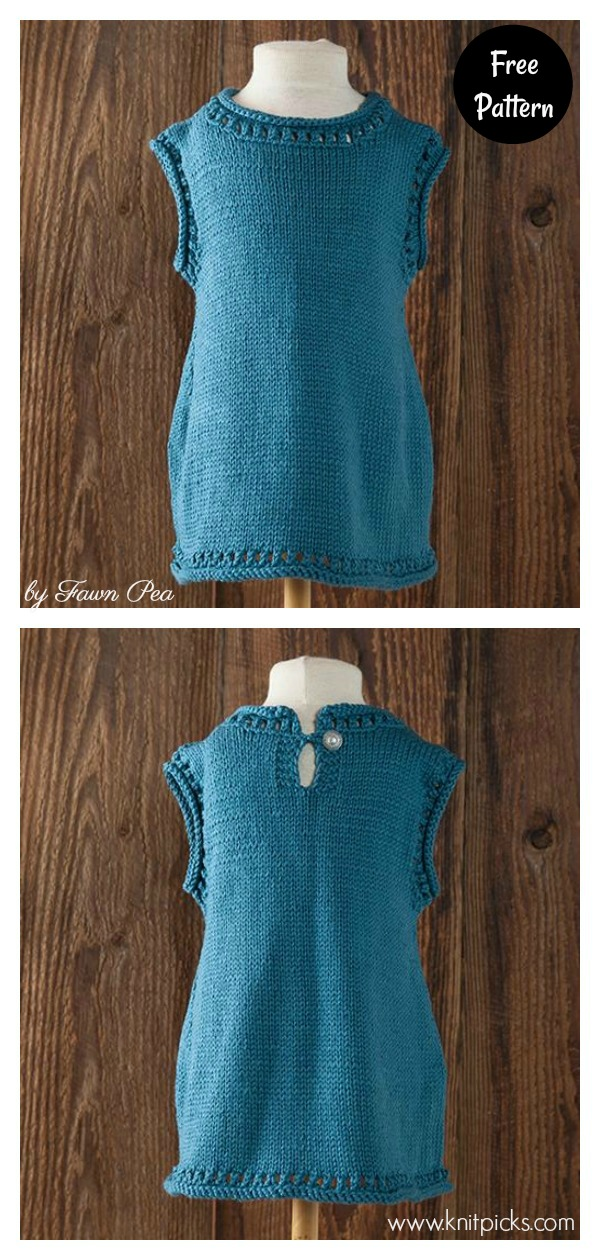 Margot & Iris Child Tunic Free Knitting Pattern