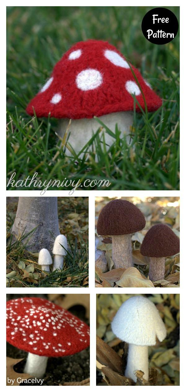 Myriads of Mushrooms Free Knitting Pattern