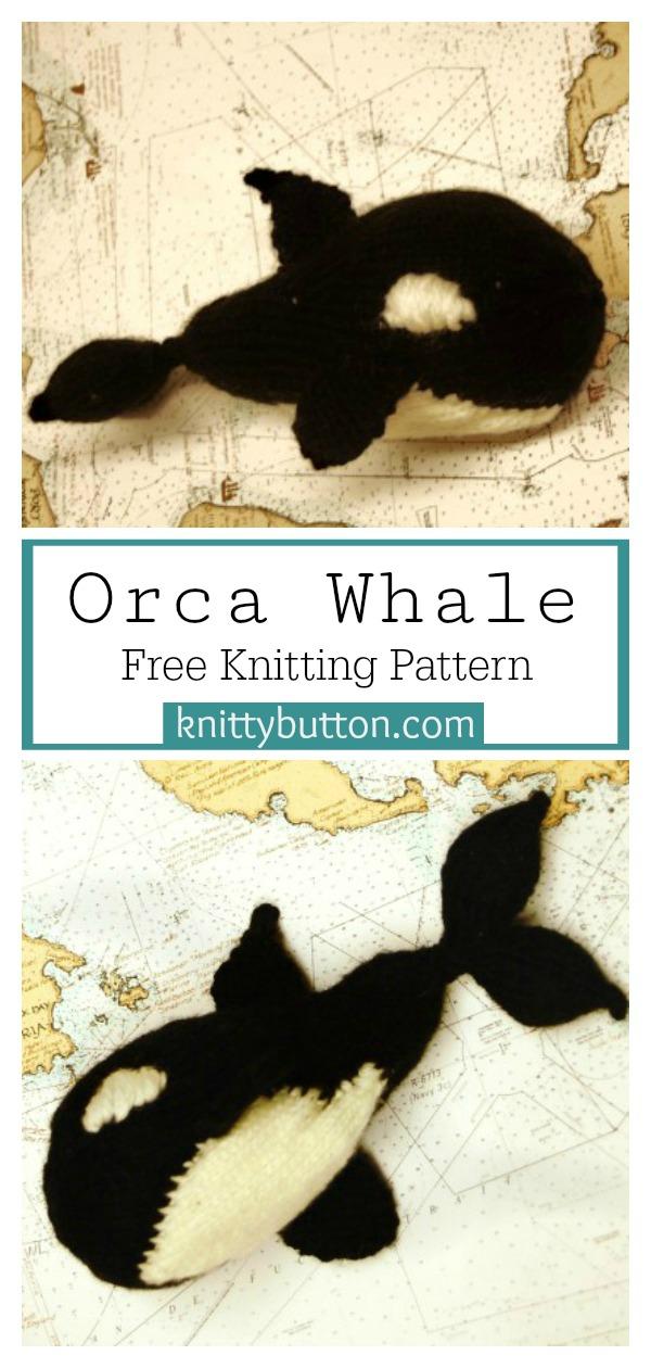 Orca Whale Amigurumi Free Knitting Pattern