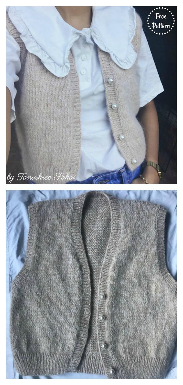 Overnight Oats Vest Free Knitting Pattern