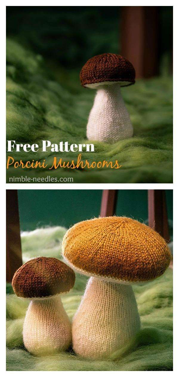 Porcini Mushrooms Free Knitting Pattern