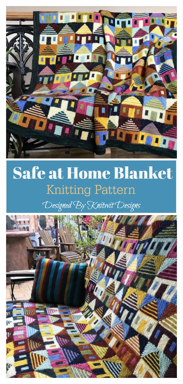 Safe at Home Blanket Knitting Pattern