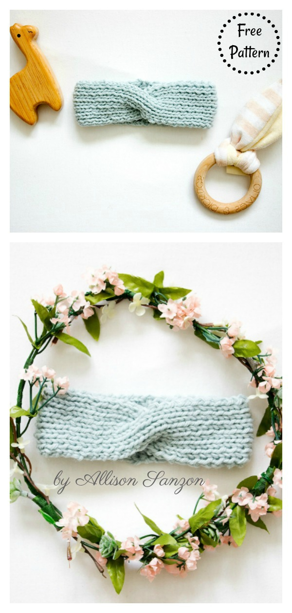 Scout Baby Headband Free Knitting Pattern