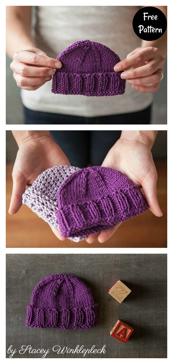 Simple Calming Baby Hat Free Knitting Pattern