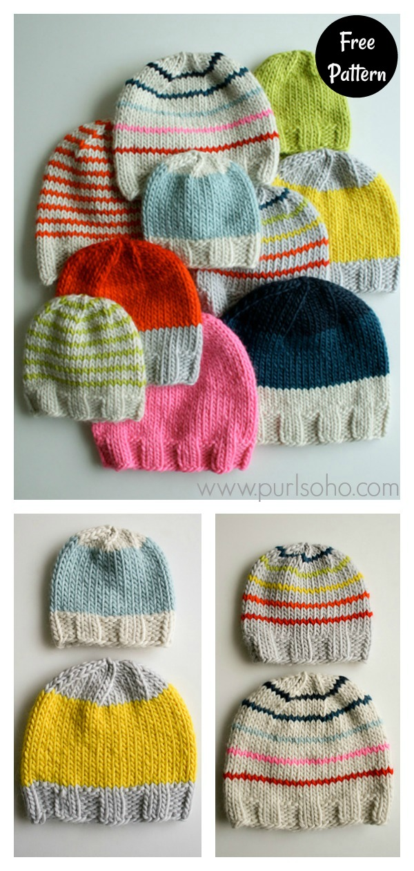 Simple Hat for Everyone Free Knitting Pattern
