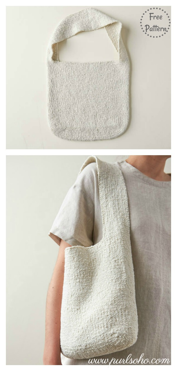 Simple Slouchy Tote Bag Free Knitting Pattern