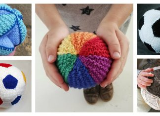 Soft Playing Ball Free Knitting Pattern