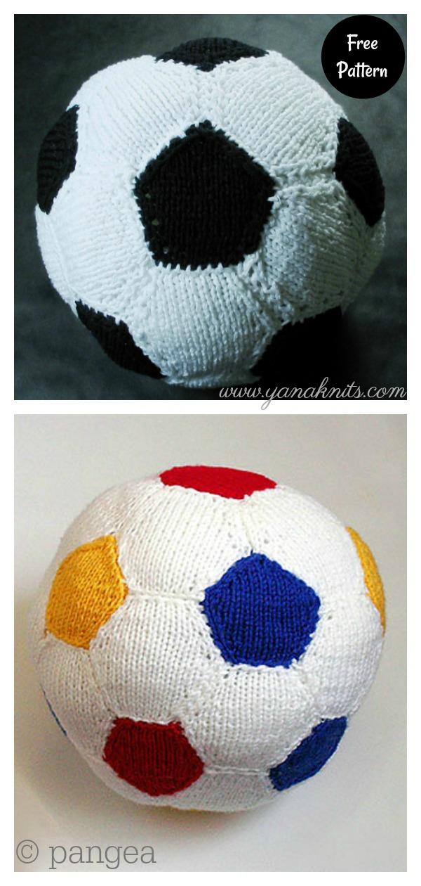 Soft Playing Soccer Ball Free Knitting Pattern