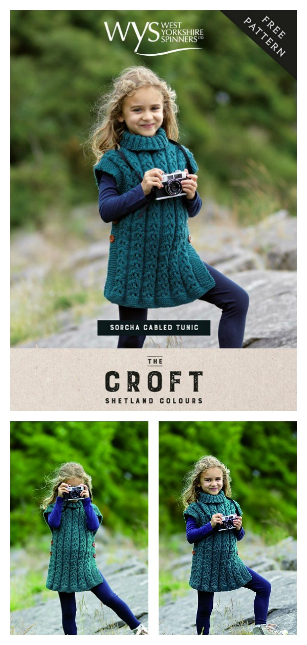 Sorcha Cabled Tunic Free Knitting Pattern