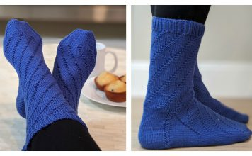 Spiral Socks Free Knitting Pattern