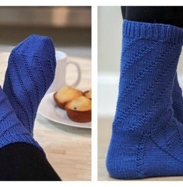 Spiral Socks Free Knitting Pattern