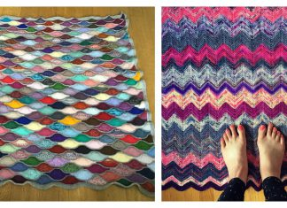 Stash Buster Blanket Free Knitting Pattern