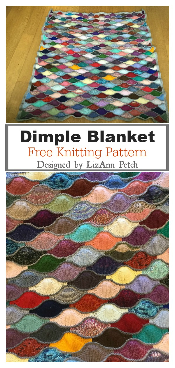 Stash Buster Dimple Blanket Free Knitting Pattern