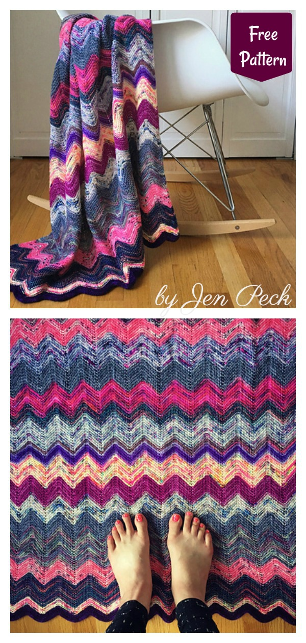 Stash Buster Lily's Scrap Blanket Free Knitting Pattern
