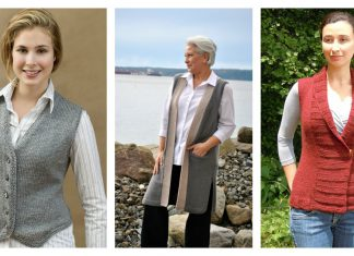 Stylish Vest Free Knitting Pattern