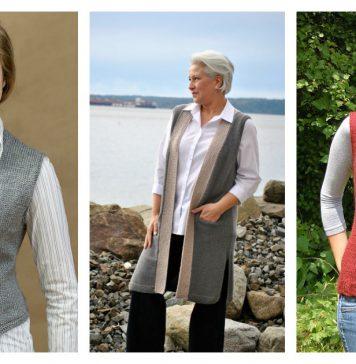 Stylish Vest Free Knitting Pattern