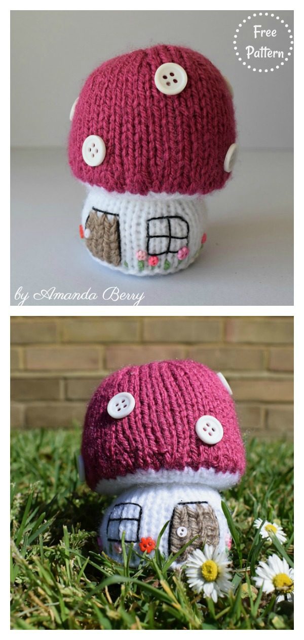 Toadstool Cottage Free Knitting Pattern