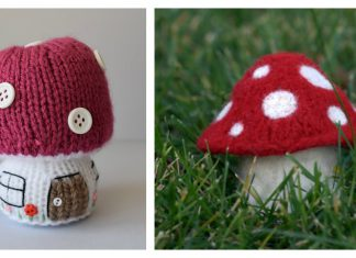 Toadstool Free Knitting Pattern