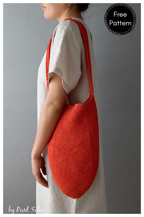 Twill Tote Bag Free Knitting Pattern