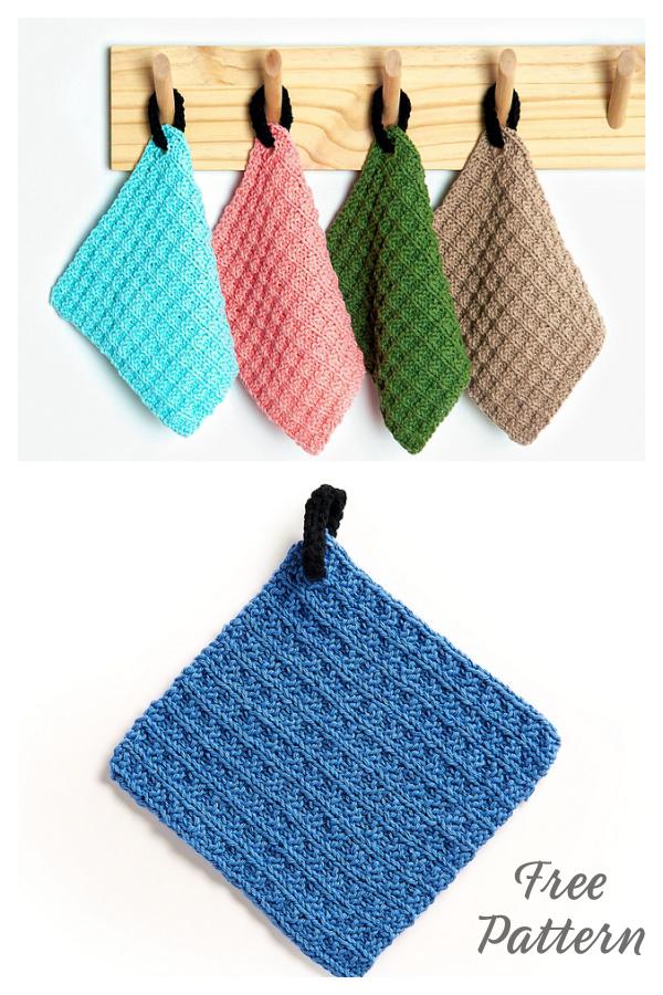 Waffle Dishcloth Free Knitting Pattern