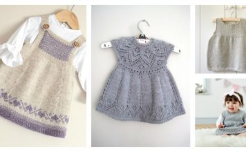 Adorable Baby Dress Free Knitting Pattern and Paid