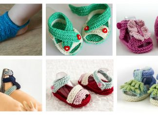 Adorable Baby Sandals Knitting Patterns