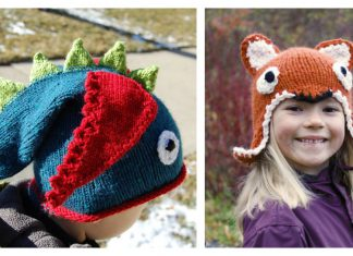 Animal Hat Free Knitting Pattern