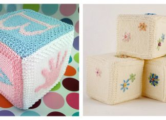 Baby Building Block Cube Free Knitting Pattern